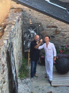 Avec mon ami sculteur Philippe ROY
